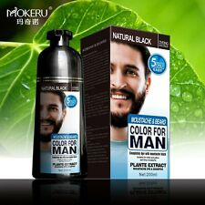 Hair Dye Color Beard Natural Shampoo Men's Permanent Black Hair Fast Free Ammon