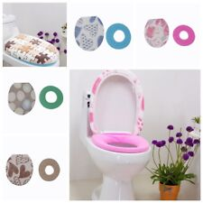 2pc/Set Toilet Closestool Washable Seat Mat+Lid Cover Bathroom Warmer Cover Pads