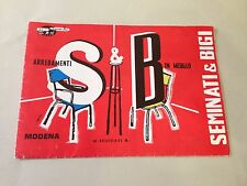 D23>  Catalogo Seminati & Bigi - arredamenti in metallo - Modena -1965