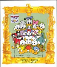Maldives 1994 Disney/Donald Duck/60th Birthday Portrait/Cartoons 1v m/s (b1480k)