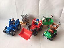 LEGO Duplo 2 x Traktor + Anhänger - Trecker für Bauernhof aus 5647 + Quad - Top!