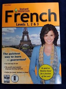 French Levels 1, 2 & 3 Instant Immersion Learn A Language Pc And Mac