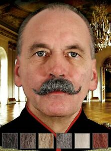 Oktoberfest Bavarian Real Hair Moustache Human Realistic Fake Theatrical Tach