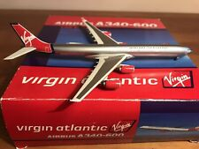 DRAGON WINGS 1:400, VIRGIN ATLANTIC, AIRBUS A340-600, G-VSHY, WITH STAND