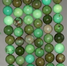 8MM NATURAL MOSS GREEN OPAL GEMSTONE GRADE AAA  ROUND 8MM LOOSE BEADS 16""