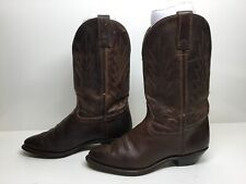VTG WOMENS UNBRANDED COWBOY BROWN BOOTS SIZE 7.5 M