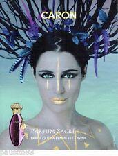 PUBLICITE ADVERTISING 116  2010   Parfum  Sacré  par Caron