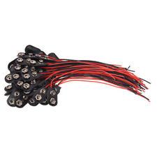 50 pezzi 2 morsetti a filo 9V batterie clip connettori supporto nero rosso Z3J8