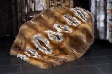 516 Edle Rotfuchsdecke - Pelzdecke aus deutschen Rotfüchsen Echt Fell Decke Pelz