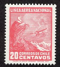 CHILE 1931 AIR MAIL STAMP # 209 wmk 1 MNH