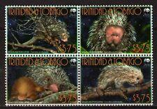 Trinidad & Tobago MNH 4v Blk, Brazilizn Porcupine, WWF