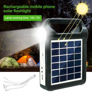 Tragbares Kraftwerk Generator Beleuchtungssatz Solarpanel LED-Lampe USB Outdoor