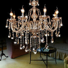 Cognac 8 Arms Modern Luxury Crystal Chandelier Pendant Light Lamp Wall Fixture