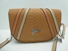 GUESS XBody Messenger Bag*Tan Natural/Python Print w/ Silver*Shoulder Purse