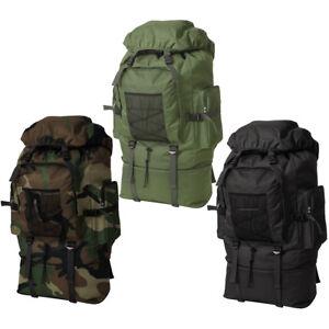 vidaXL Trekkingrucksack XXL 100L Armee Rucksack Wanderrucksack mehrere Auswahl