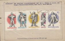 1959 Hungary Fencing Championships set of 5 used stamps.