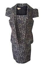 *MICHAEL KORS* WOOL BLEND FLORAL PRINT LACE PATTERNED DRESS SUIT (6)