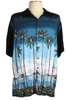 Batik Bay Men's 3XB, Hawaiian shirt, Black Blue, Camp Tropical Island Shoreline