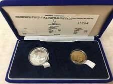 (JC) 15th SEA Games 1989 @ RM5 & RM15 Set of 2 proof coin 1989 (COA 15264)