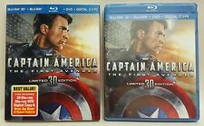 Captain America 3D + Blu-Ray + DVD + Digital Copy -- Limited Edition (2011) New!