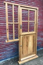 Solid Oak Cottage Style Stable Door with side window! Made to measure! Bespoke!