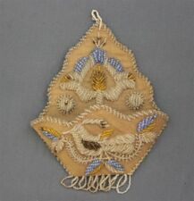 Antique Iroquois Beaded Whimsy Beadwork Wall Hanging Match Holder Bird Flower