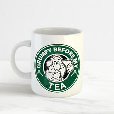 Disney Starbucks Mug, Grumpy Before My Tea Funny Fan Mug Cup, Snow White