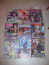Lot Of 9 Vintage Rock Music Magazines From Mid 80's