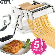 GEFU Pasta Perfetta Nudelmaschine Pasta Teig Maschine mit Aufsatz Edelstahl weiß