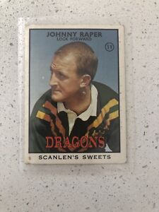 scanlens rugby league trading cards 1968