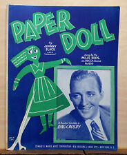 Paper Doll - 1948 sheet music - Bing Crosby photo on cover, paper doll graphic