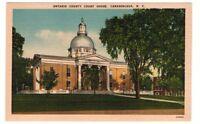 Undated Unused Postcard Ontario County Court House Canandaigua New York NY