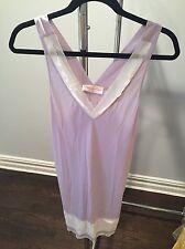 New Oscar De La Renta Babydoll Pink Label Dress Lace Chemise Lingerie Bridal