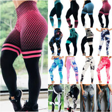 Womens Leggings Yoga Pants Printed Gym Sport Fitness High Waist Workout Trousers