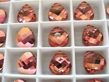 6 Light Rose Rosaline Swarovski Crystals Pendants Briolette 6012 11mm