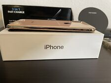 New listing Unlocked iPhone Xs max 256gb Gold Used + Charging Dock