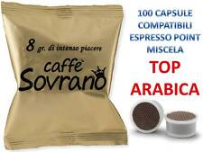 100 CIALDE CAPSULE CAFFE SOVRANO TOP ARABICO COMPATIBILE LAVAZZA ESPRESSO POINT