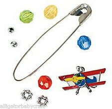 Airplane Enamel Charm Pin Craft Kit for Kids Boys Party Favor/Activity! Abcraft