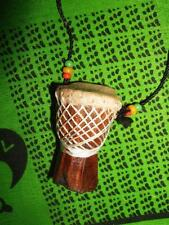 African D'jembe Drum Necklace new handmade Africa drummer music M/L jndl77