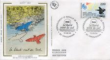 FRANCE FDC - 2895 3 DEBARQUEMENT EN PROVENCE - DRAGUIGNAN 13 Aout 1994-LUXE soie