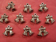 Tibetan Silver Wedding Bells Charms pack of 10