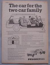 1970 Peugeot 404 & 204 estate Original advert