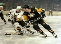 Mario Lemieux Ray Bourque Game Action Color 8 X 10 Photo Picture Free Shipping