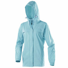Womens Gelert Ripple Mint Turquoise Outdoor Rainpod Packaway Jacket Coat Size 10