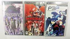 Shin Megami Tensei Persona 1, 2, 3 Triple Pack (PlayStation Portable, PSP) New