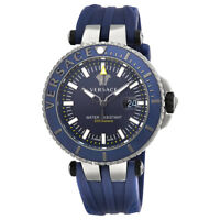 Versace V Race Diver Blue Dial Mens Rubber Watch VAK02 0016