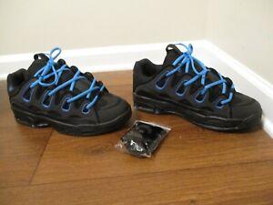 BNIB Size 12 Osiris D3 2001 Shoes Black & Cyan Blue