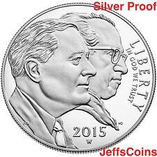 2015 W March of Dimes Proof Silver Dollar FDR Jonas Salk Box w COA U.S.Mint DM1