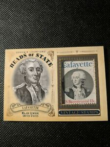 Lafayette 2020 Goodwin Champions Heads Of State Vintage Bicentennial Stamp...