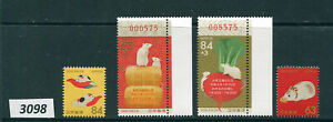 3098-JAPAN-4 Year of the Rat Stamps-MNH-2020